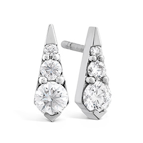 Triplicity Drop Stud Earrings