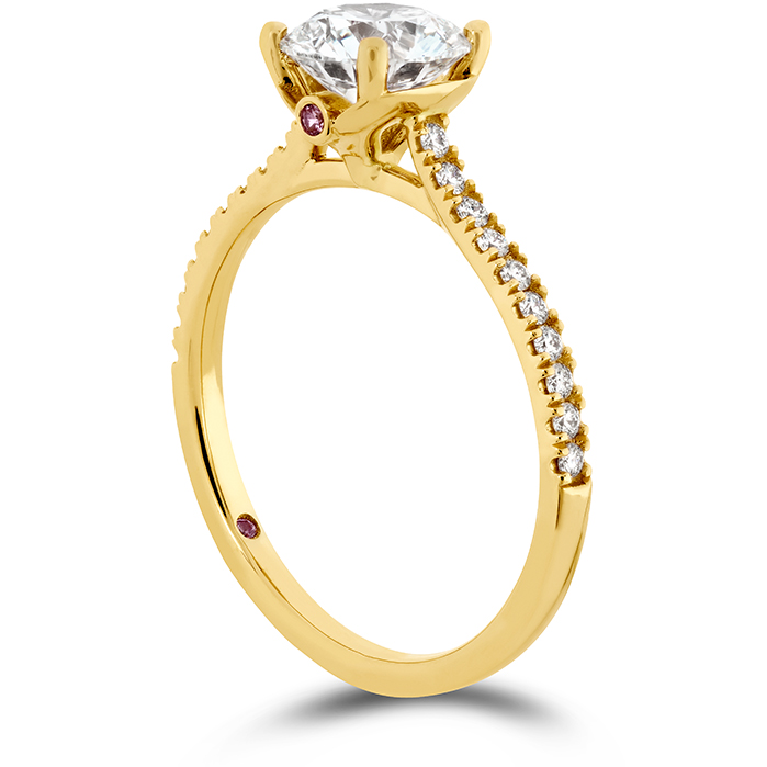 Sloane Silhouette Engagement Ring Diamond Band-Sapphires